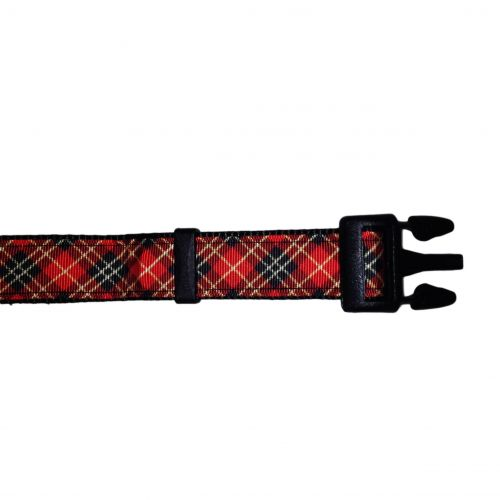 scottish plaid collar - open 2