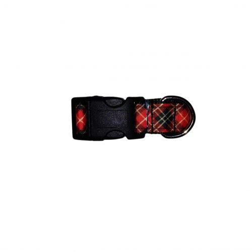 scottish plaid collar - roll