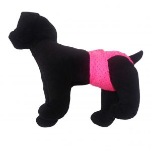 Black Polka Dot on Pink Washable Dog Diaper