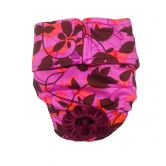 Flower in the Wind on Purple Washable Cat Diaper