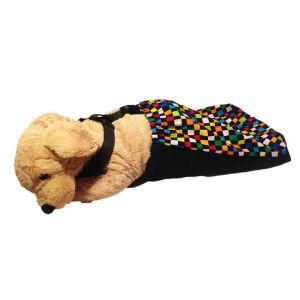 Color Checker Dog Drag Bag