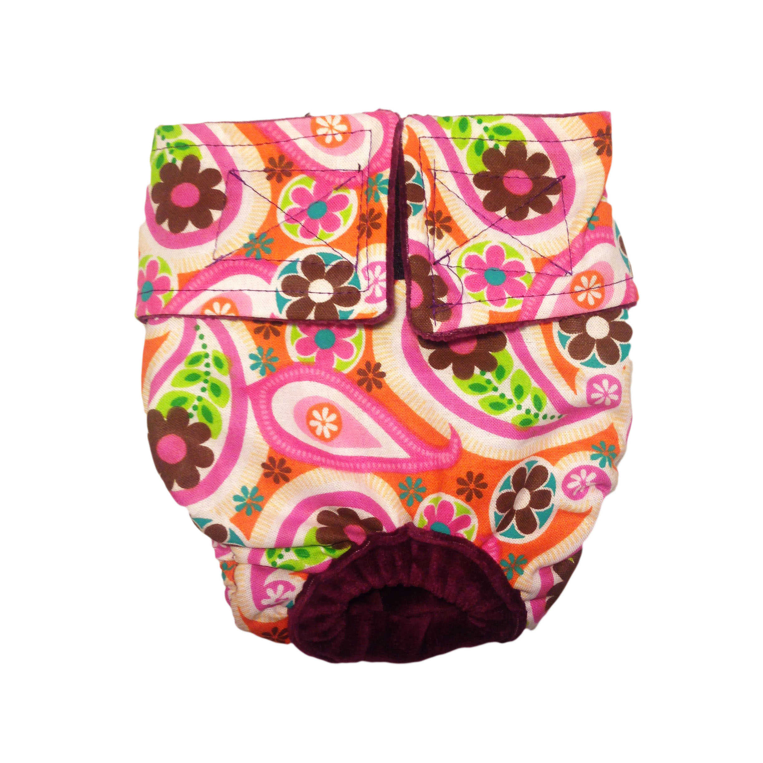 Barkertime Paisley Flower On Pink Washable Cat Diaper