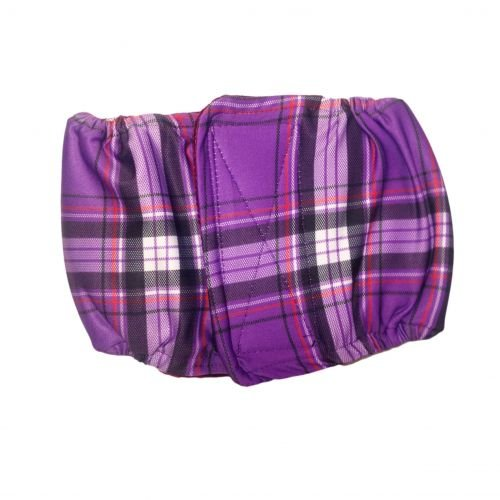 purple plaid belly band