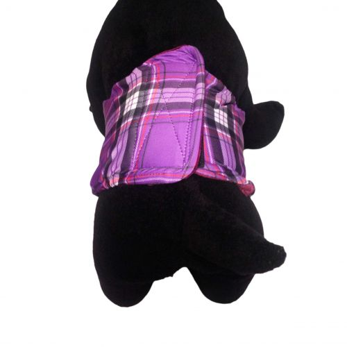 purple plaid belly band - model 2
