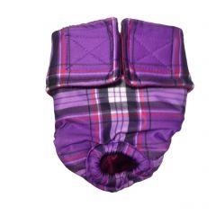 Purple Plaid Washable Cat Diaper