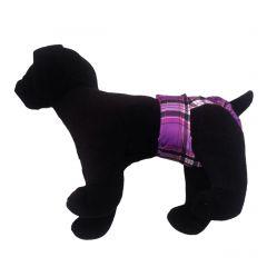 Purple Plaid Washable Dog Diaper