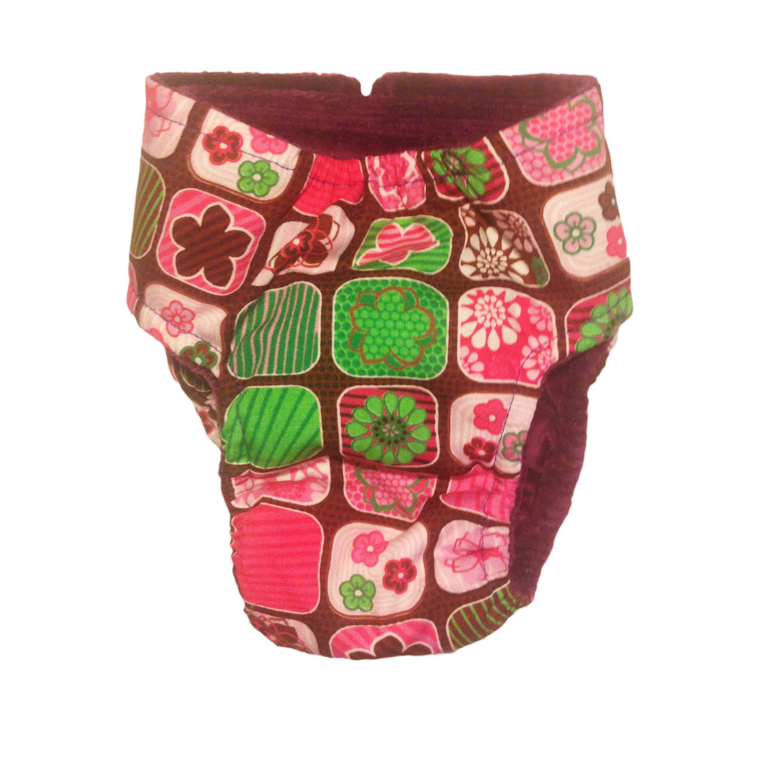 Barkertime Pink Flower Window Washable Cat Diaper Made