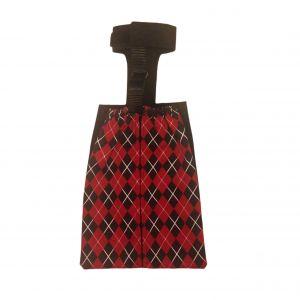 Red Argyle Dog Drag Bag