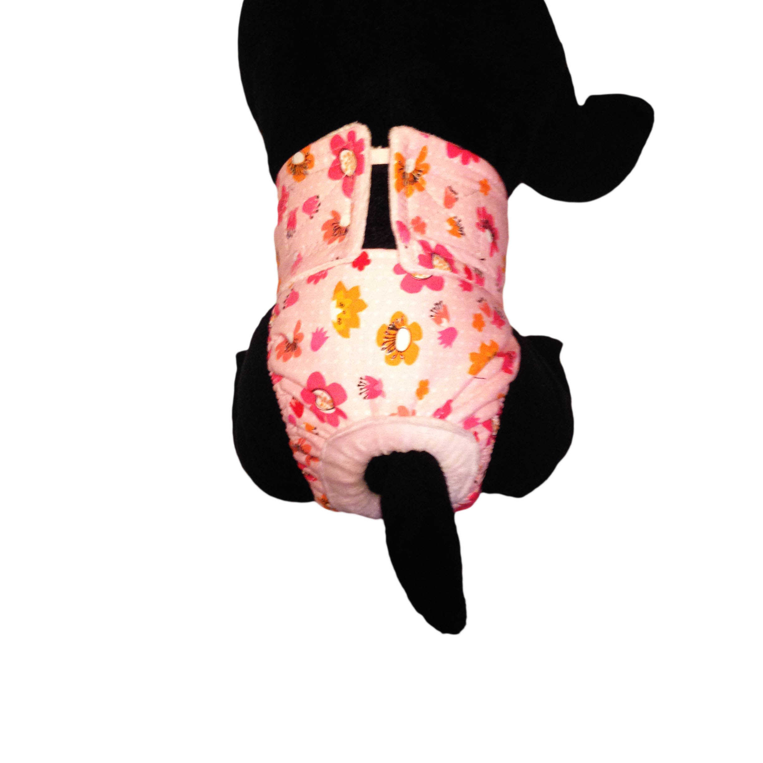 Barkertime Spring Flower On Pink Washable Cat Diaper