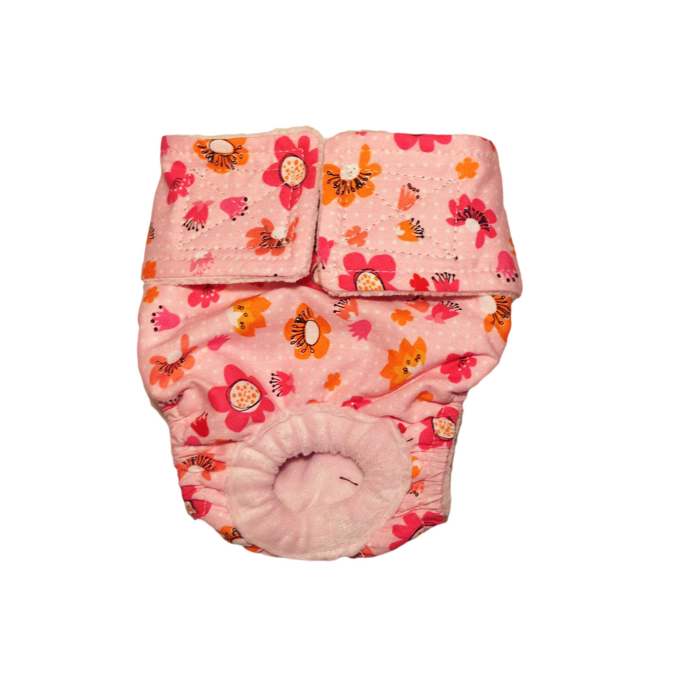 Barkertime Spring Flower On Pink Washable Cat Diaper