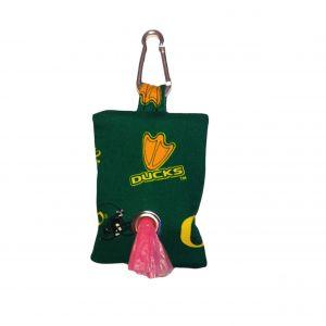 Dog Poop Bag Dispenser made from University of Oregon Ducks fabric