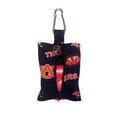 Dog Poop Bag Dispenser made from Auburn University Tigers fabric
