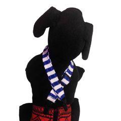 Blue Stripes Adjustable Suspender to Keep Dog Diapers On
