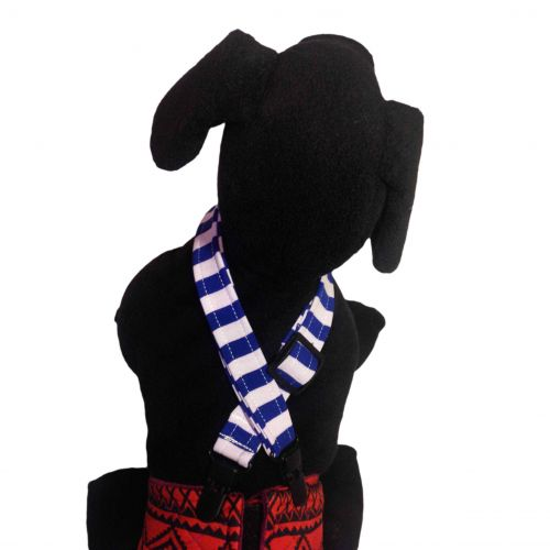 blue stripe suspender - model 1