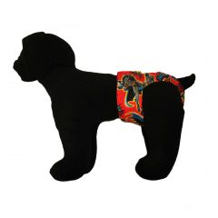 Washable Dog Diaper made from Batman Kaboom fabric