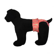 Paris Eiffel Tower on Pink Washable Dog Diaper