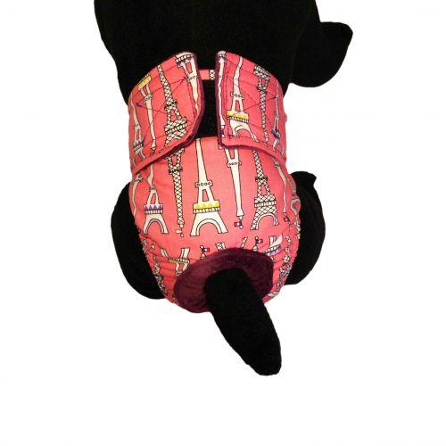 eiffel tower on pink diaper - model 2