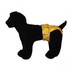 Paris Eiffel Tower on Yellow Washable Dog Diaper
