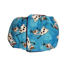 Washable Dog Belly Band Male Wrap made from Frozen Olaf fabric