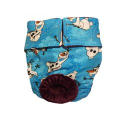 Washable Cat Diaper made from Frozen Olaf fabric