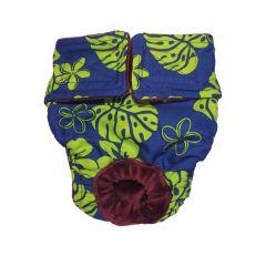 Green Hawaiian Hibiscus Washable Dog Diaper