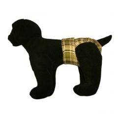 Green Plaid Washable Dog Diaper