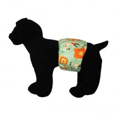 Jungle Buddies on Teal Washable Dog Belly Band Male Wrap