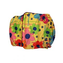 Lucky Flowers on Yellow Washable Dog Belly Band Male Wrap