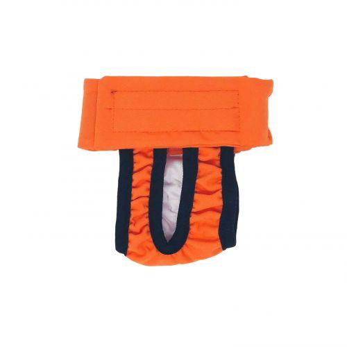 neon orange diaper pull-up