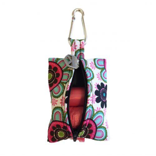 passion flower poop bag holder – back