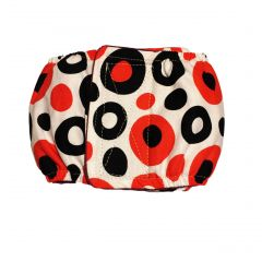Red and Black Polka Washable Dog Belly Band Male Wrap