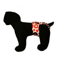 Red and Black Polka Washable Dog Diaper