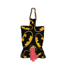 Dog Poop Bag Dispenser made from Batman fabric