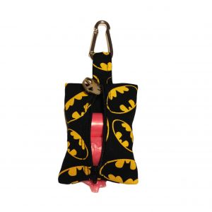 Dog Poop Bag Dispenser made from Batman fabric