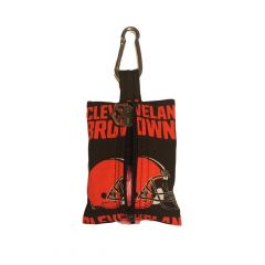 Dog Poop Bag Dispenser made from Cleveland Browns fabric