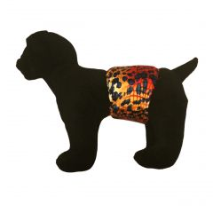 Hot Cheetah Washable Dog Belly Band Male Wrap