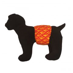 Hot Flames Washable Dog Belly Band Male Wrap