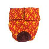Hot Flames Washable Cat Diaper