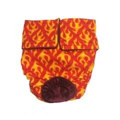 Hot Flames Washable Dog Diaper