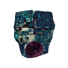 Turquoise Flower Washable Cat Diaper