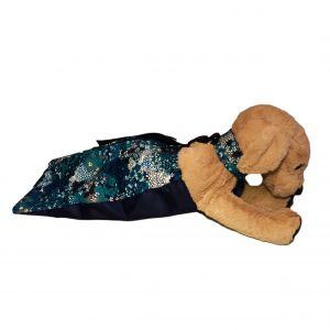 Turquoise Flower Dog Drag Bag