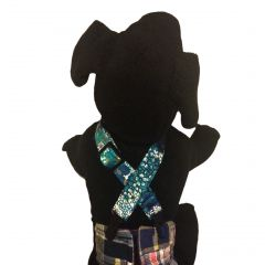 Turquoise Flower Adjustable Suspender to Keep Dog Diapers On