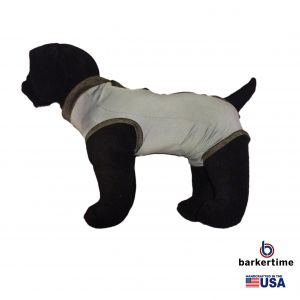 Charcoal PeeJama E-Collar Alternative Recovery Suit