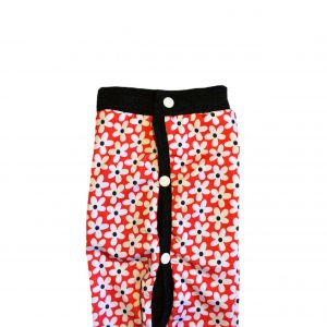 Daisy Flower on Red PeeJama E-Collar Alternative Recovery Suit