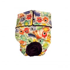 Little Monster Premium Fully Waterproof PUL Washable Cat Diaper