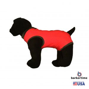 Red PeeJama E-Collar Alternative Recovery Suit
