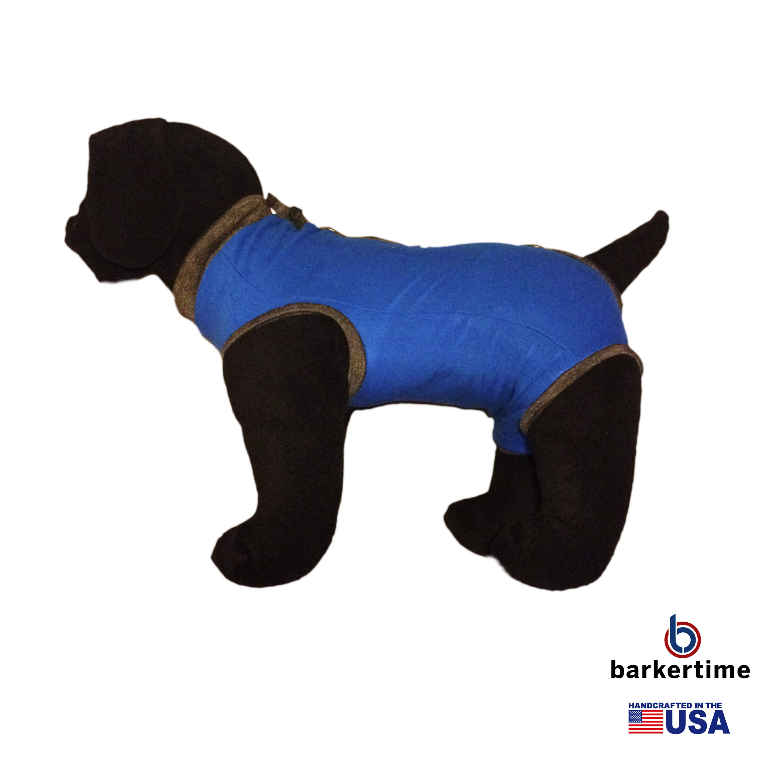 Royal Blue Peejama E Collar Alternative Recovery Suit For
