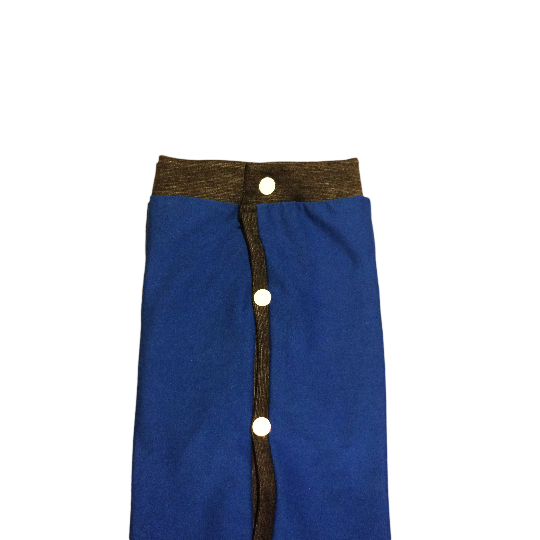 Royal Blue Peejama E Collar Alternative Recovery Suit For