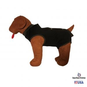 Black PeeJama E-Collar Alternative Recovery Suit