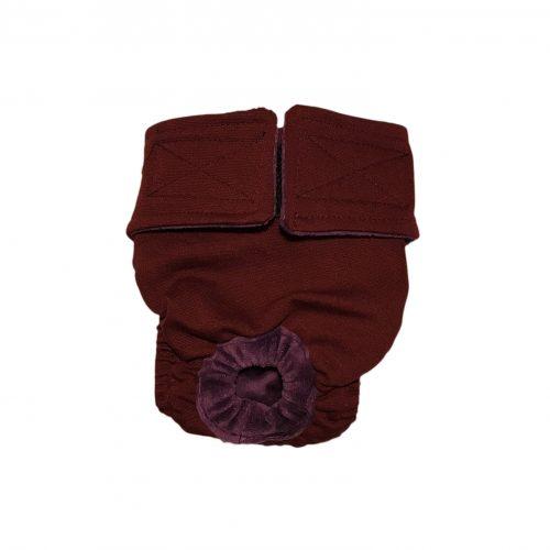 burgundy diaper